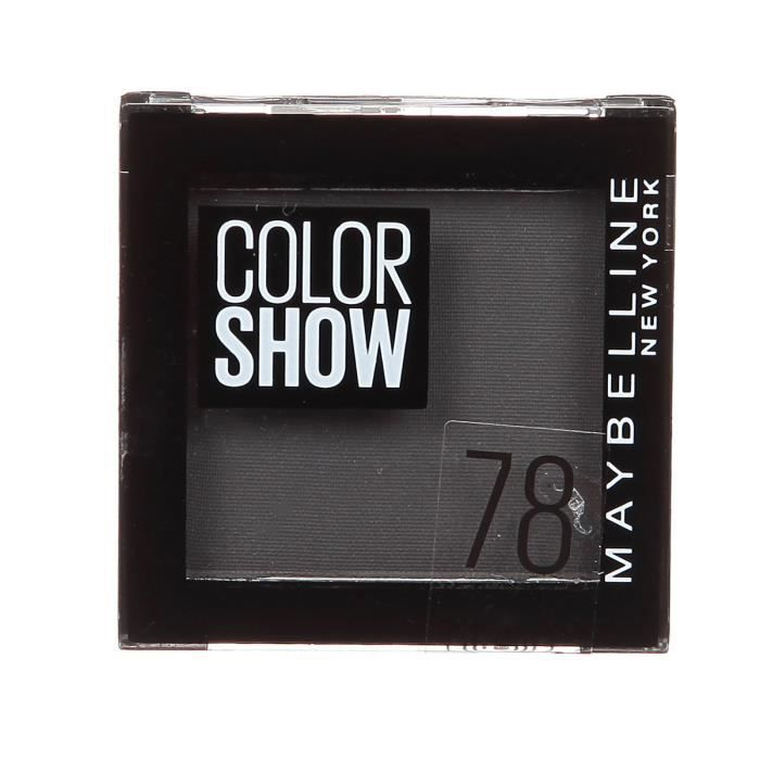 GEMEY MAYBELLINE Fard à Paupières Coloshow 78 Noir Velvet