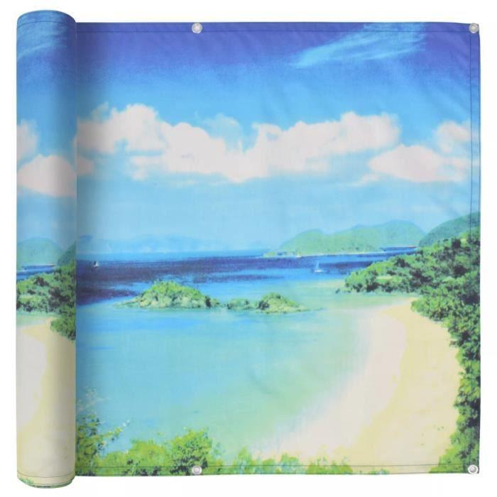 Brise Vue Pour Balcon Protection Visuelle Tissu Oxford 90 X 600 Cm Vue De Lac