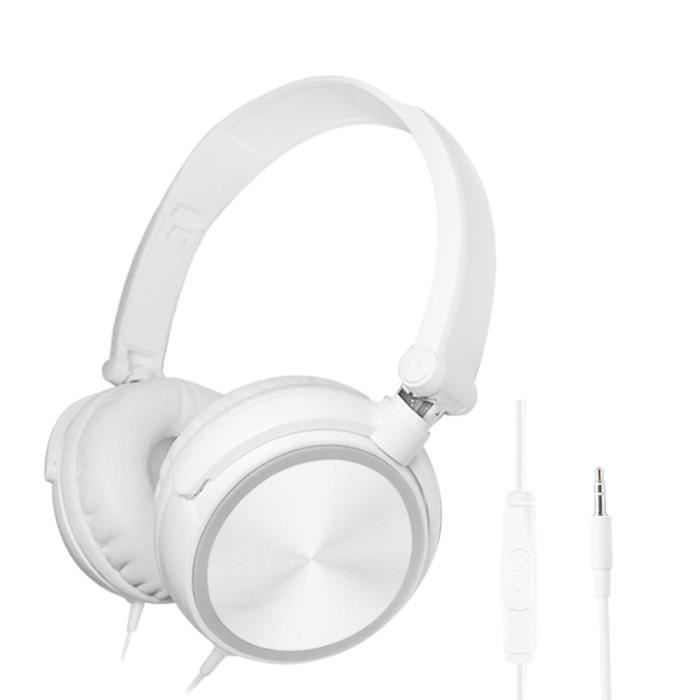 S1 Gaming Headset Pliable Overear Deep Bass Ecouteurs (blanc)
