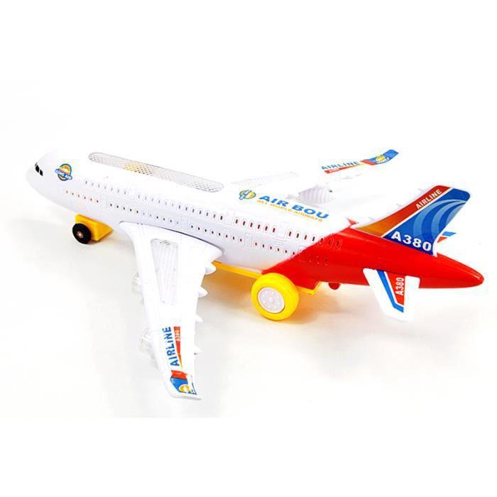 A380 Bump Go Avion Clignotant Led Light Toy Musique Airbus Avions