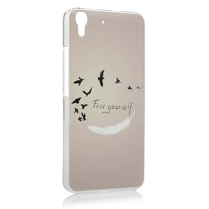 coque huawei y6 plume