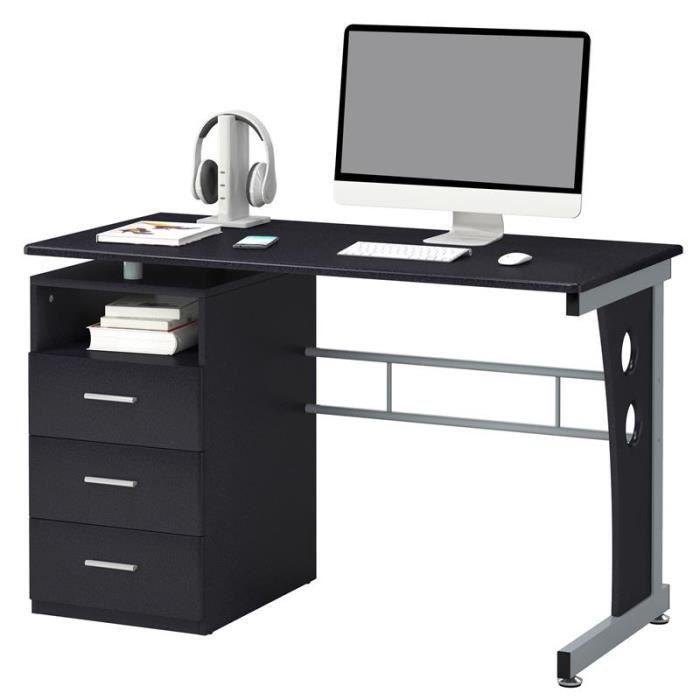 bureau informatique jussieu noir achat vente bureau bureau informatique jussieu cdiscount. Black Bedroom Furniture Sets. Home Design Ideas