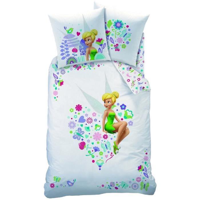 Parure de lit Fee Clochettes Disney Fairies   Achat / Vente parure