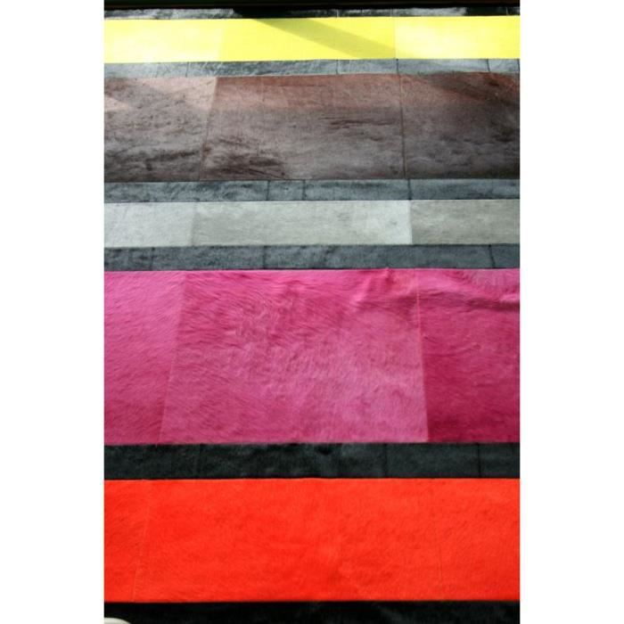 tapis patchwork en peau de vache multicolore achat vente tapis cdiscount. Black Bedroom Furniture Sets. Home Design Ideas