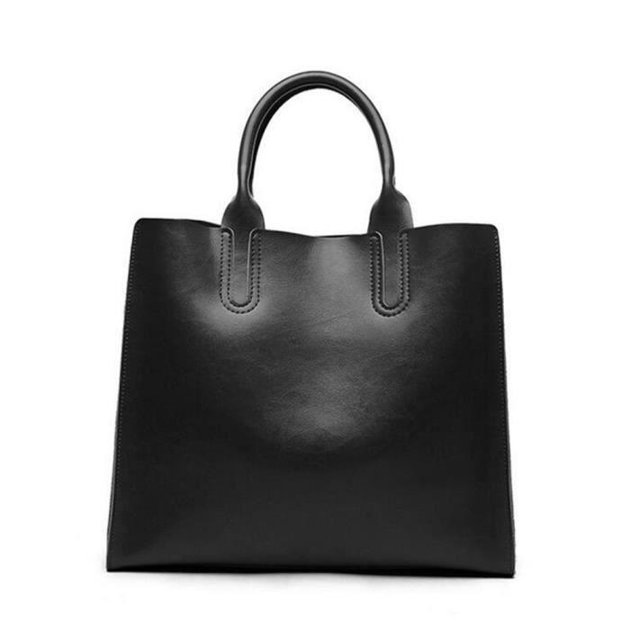 Femme sac à main cuir Nouvelle Mode qualité supérieure De Marque De Luxe Meilleure vente En Cuir Femmes Sacs noir