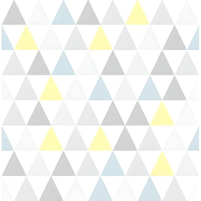 Papier Peint Support Intissé Tarek Jaune Bleu - Achat / Vente