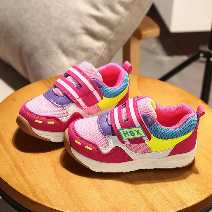 Enfants Chaussures baskets Bébé Garçon filles Mode Chaussures de sport Stickers magiques N6LO7ivXV