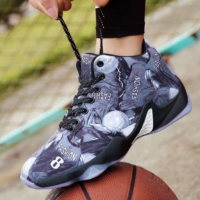 Mixtegris Fashion Baskets basket épais ball montantes de Chaussures fond 44British pour 8832 masculin pt5wxTqwS