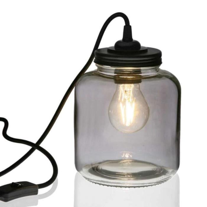 Lampe De Chevet En Verre Transparent Achat Vente Lampe De Chevet
