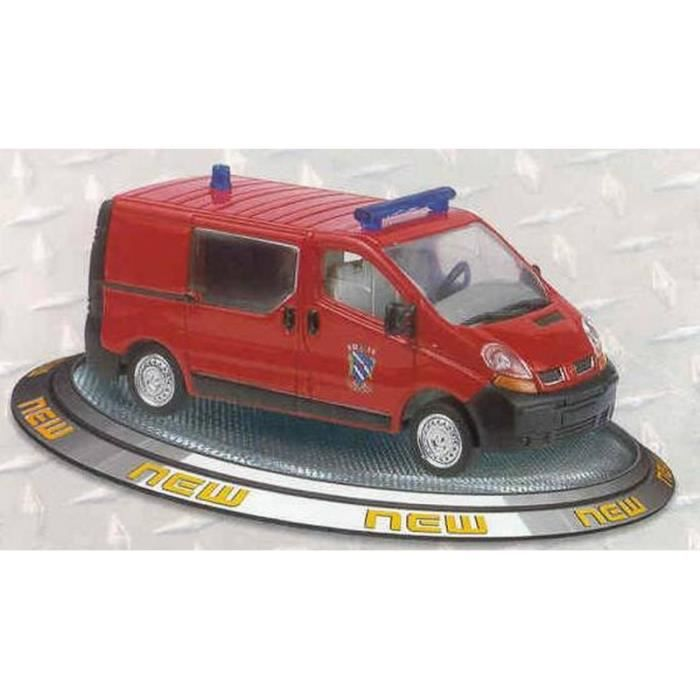 Solido Trafic 43 Pompiers 1 Model Renault Die Sl2179 Cast 02 Maquette sCrthQd