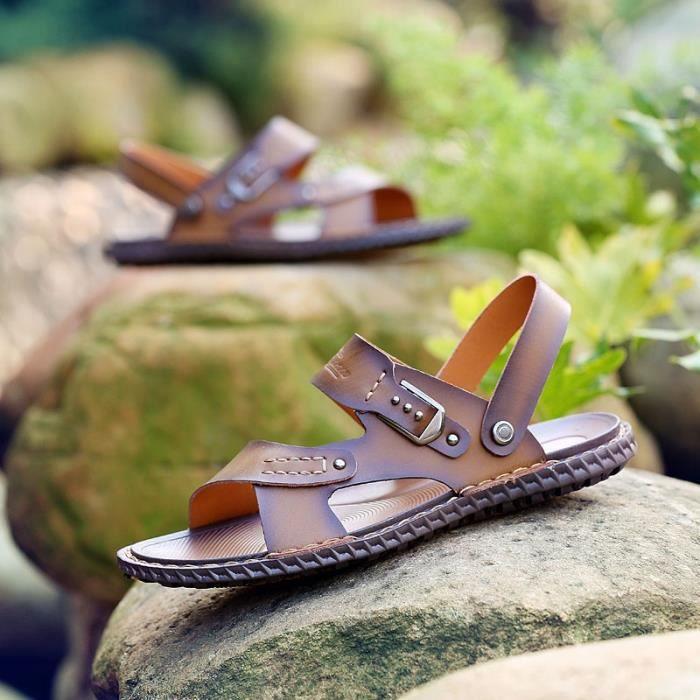 Chaussures Casual Brown Sandales Voyage étudiant hommes HCci95