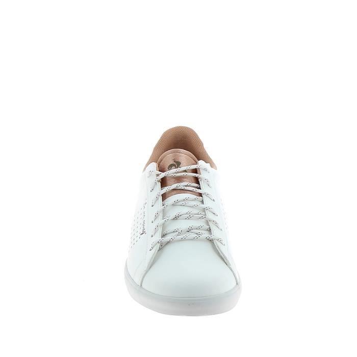 Agate mode Coq Le Sportif Sneakers Basket Blanc U7STx
