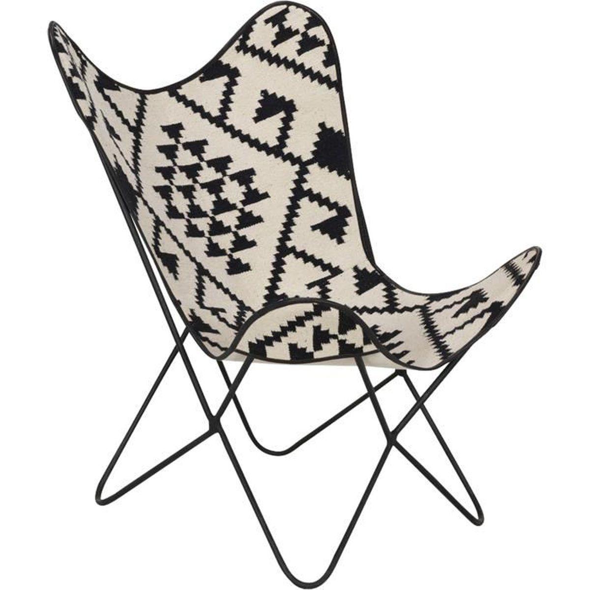 butterfly fauteuil pliant avec assise en toile de jute motifs achat vente fauteuil cdiscount. Black Bedroom Furniture Sets. Home Design Ideas