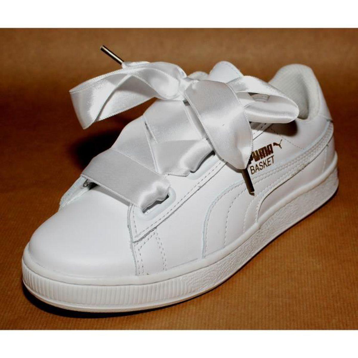 basket puma cuir blanc