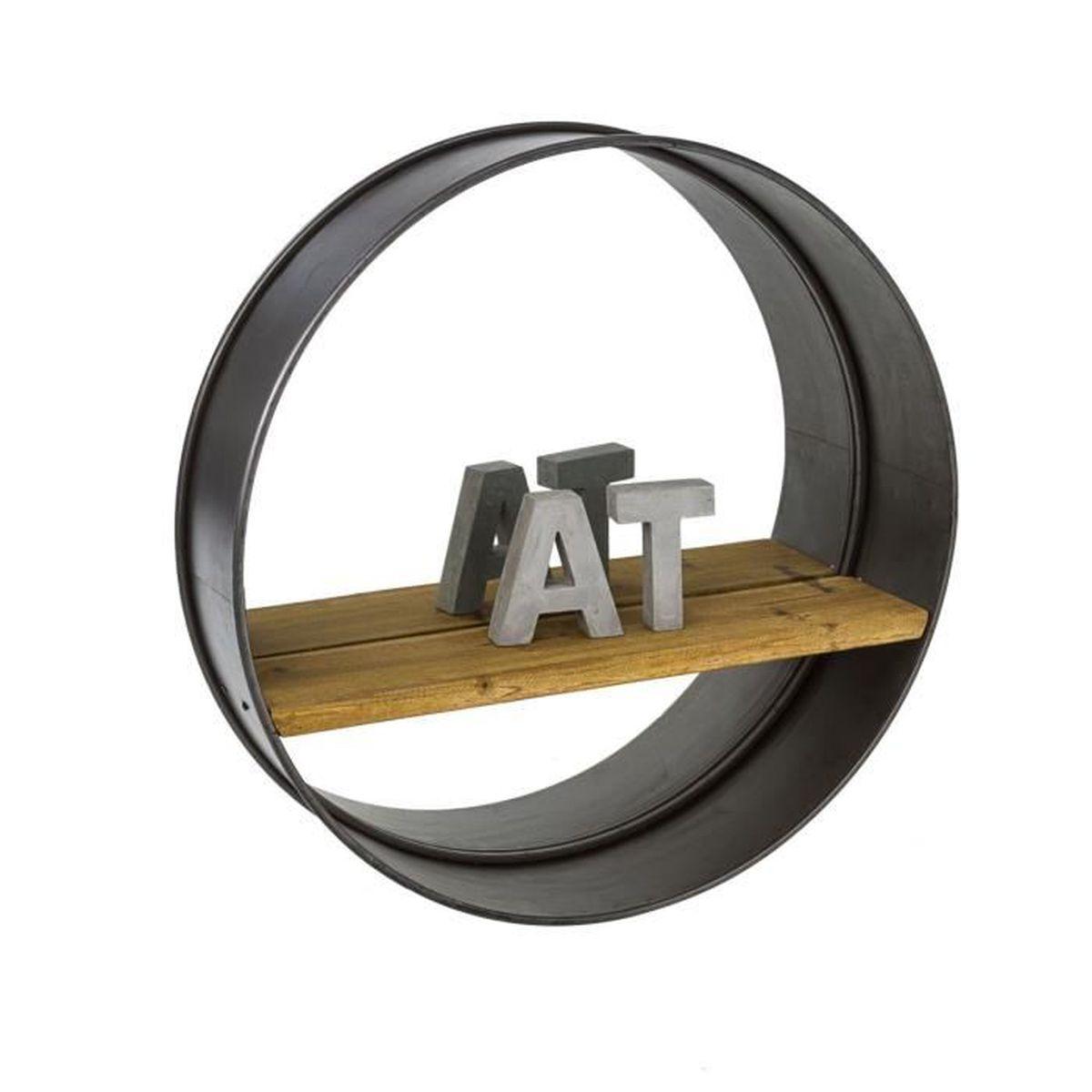 pureday miroir mural avec une tag re style industriel. Black Bedroom Furniture Sets. Home Design Ideas