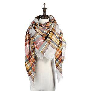 ECHARPE - FOULARD Couverture Plaid Femmes Foulard Cozy Tartan Wrap C 96018c64d48