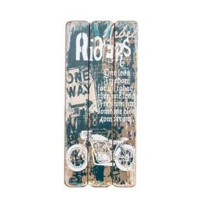 TABLEAU - TOILE Tableau - cadre bois Moto - vintage - 34,5 cm - D