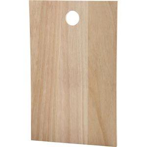 PLANCHE A DÉCOUPER Planche en bois clair avec trou de suspension. Peu