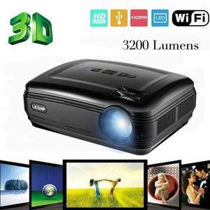 Lampe vidéoprojecteur Projecteur, LESHP Wifi Vidéoprojecteur 720P 1280 x