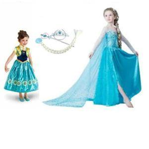 DÉGUISEMENT - PANOPLIE Kit Deux Robes Elsa et Anna Reine des Neiges+3 Acc