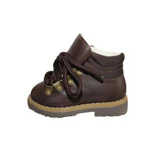 BOTTINE chaussures boots fourrées marron