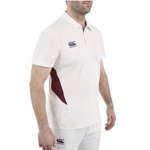 Canterbury Mens Wicking CCC Logo Cricket Polo Shirt M Crème/Bleu Marine tnt6oG06