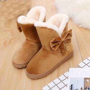 BOTTE Deessesale®Bowknot chaudes Flats bottes de neige a