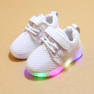 on sale 23fdf 5558f BASKET Baskets Enfants chaussures filles Bébé LED lumière ...