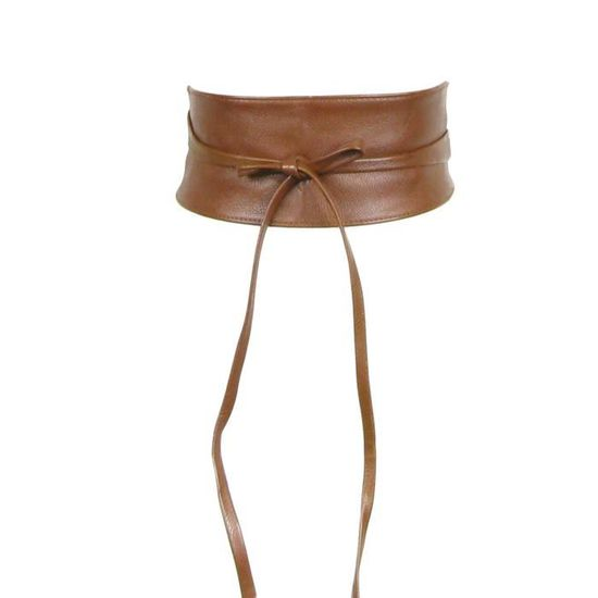 c69036c6416 Ceinture obi imitation cuir camel - Achat   Vente ceinture et boucle  3663263017573 - Cdiscount