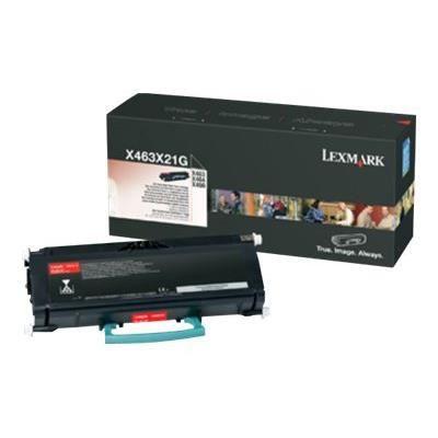 LEXMARK Cartouche toner X463X21G - Compatible X463/X464/X466 - Rendement très élevé 15.000 pages - Noir