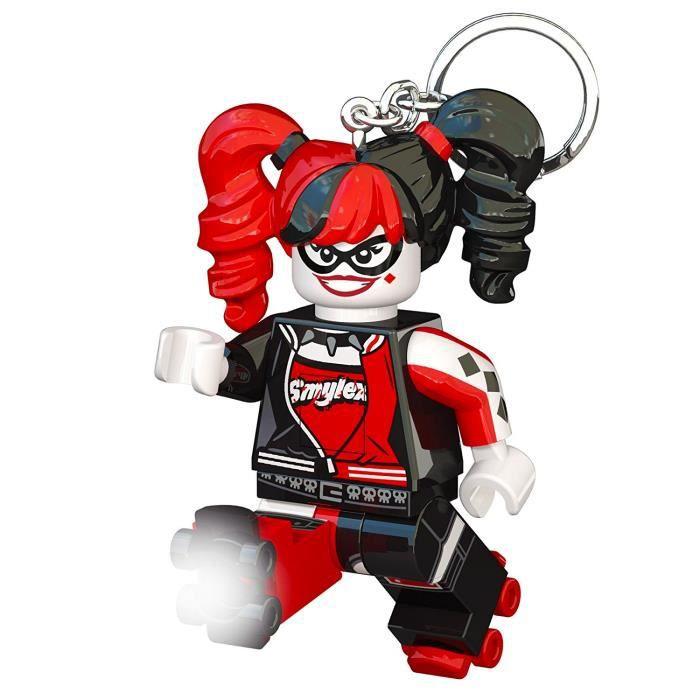 LEGO Batman Movie Porte-clés Harley Quinn - Visage lumineux - Lumière LED blanc - Tête mobile - 9,53 X 4,06 X 14,92 cm