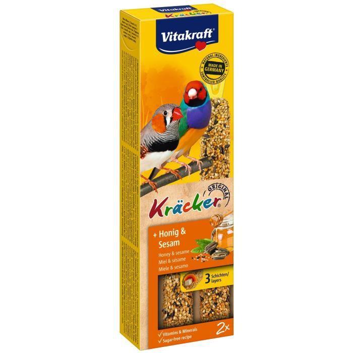 VITAKRAFT Kräcker Miel et sésame P/2 - Pour perruche