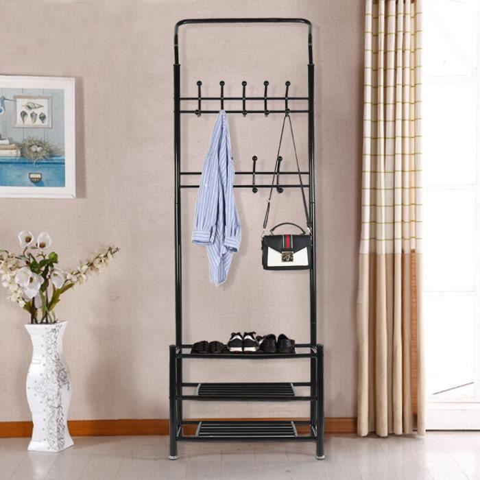 portemanteau portant v tement tag res chaussures pour l. Black Bedroom Furniture Sets. Home Design Ideas