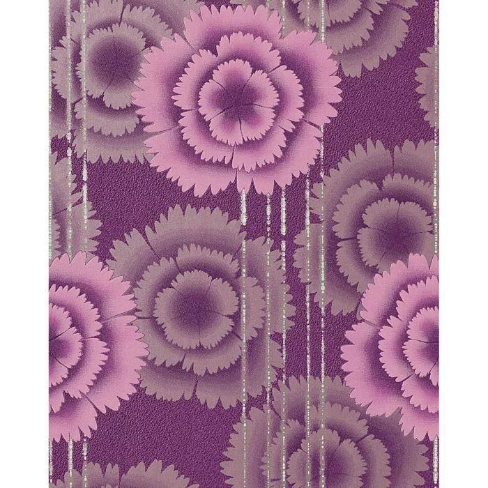 papier peint design motif floral fleurs r tro ann es 70. Black Bedroom Furniture Sets. Home Design Ideas