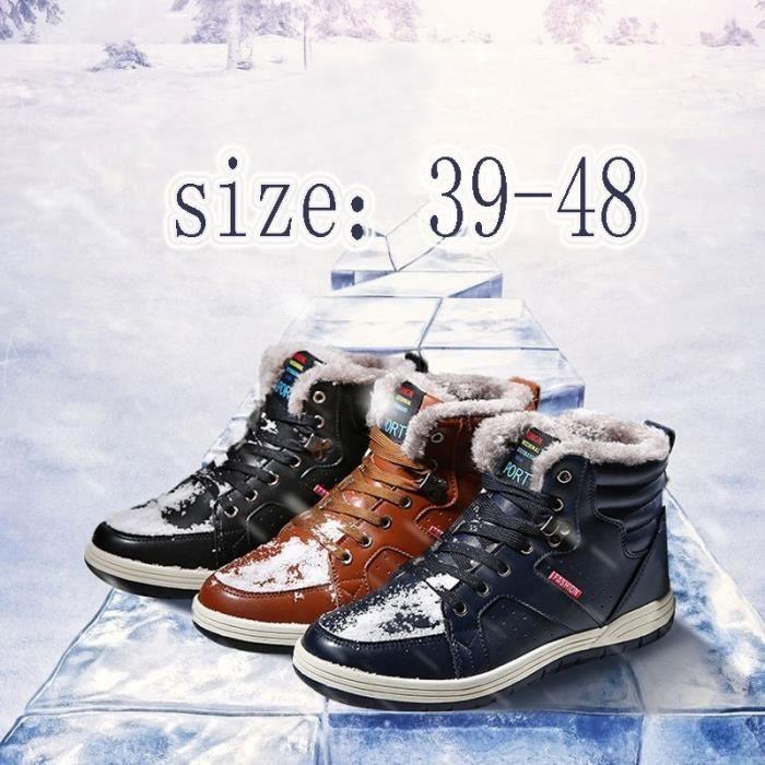 Bottes pour Hommebleu foncé 43 Loisirs Homme hiver court conception populaires Chaussures Thicker plus Cotton Keep cha_49839