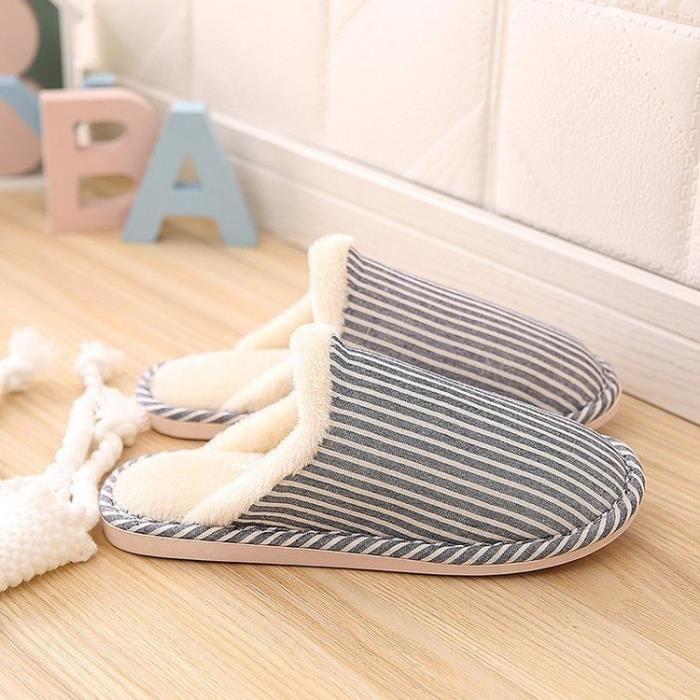 Pantoufles Chaussons à la maison pantoufles de coton chaud qhGEzBdxgH