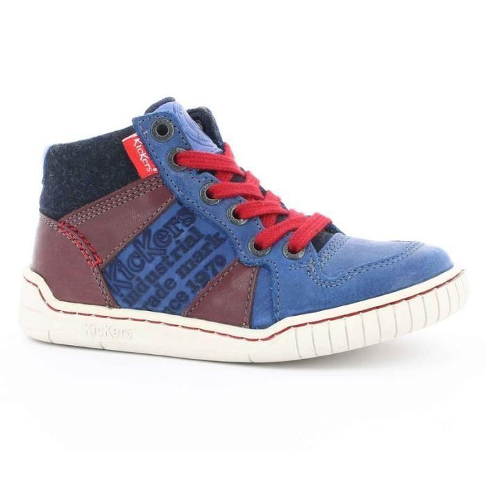 Kickers Sneakers Garçon Bleu (27 - Fin - bleu)
