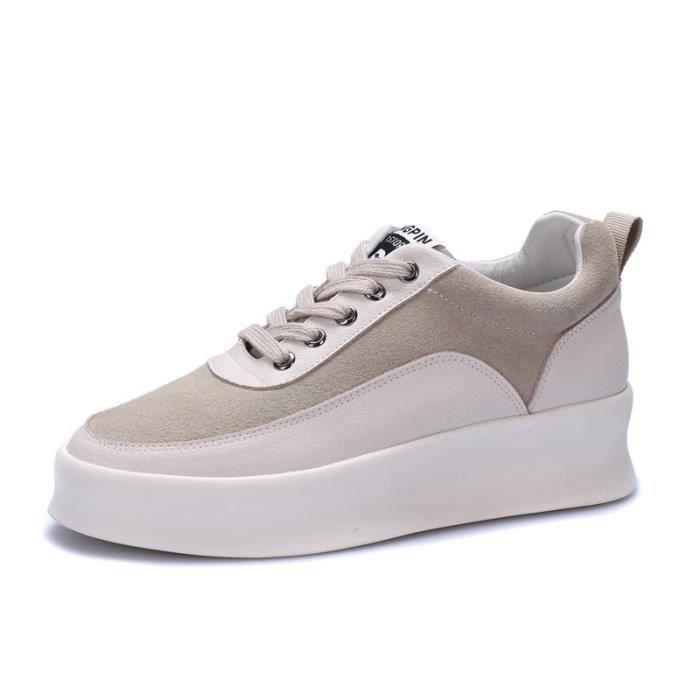 Trendy chaussures occasionnelles 2018 nouvelles chaussures de plate-forme épaisse sauvage NpMRTFUel