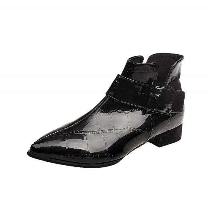 bb2fdb6af Bottes Bottes Caoutchouc Femme Skinhead Boots Femmes Ash Bottines Femme  Chaussure De Footmode Solide Fermeture éClair en Cuir