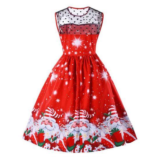 ... Père de partie imprimé Femmes Noël de Noël de soirée vintage robe  RAY7504 Swing de Robe ... 2759b5d1ae6
