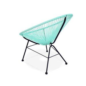 Fauteuil de jardin acapulco achat vente fauteuil de - Fauteuil vert d eau ...
