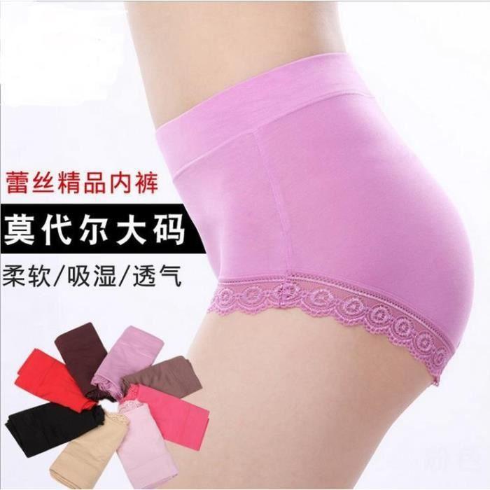 Marron rouge Mi Sous Taille Antibiotique Plus Size Shorts Culottes rose Femme vert Haute Sans Coutures Calcinhas Slip Aq193 Bragas vêtements UwPqagn