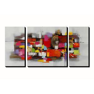TABLEAU - TOILE 3pcs AONBAT Tableaux de peinture à l'huile Toile P