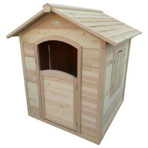 MAISONNETTE EXTÉRIEURE AXI Maison Britt en bois de Hemlock - 120 cm