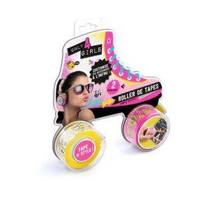 JEU DE COLORIAGE - DESSIN - POCHOIR ONLY FOR GIRLS Roller tape