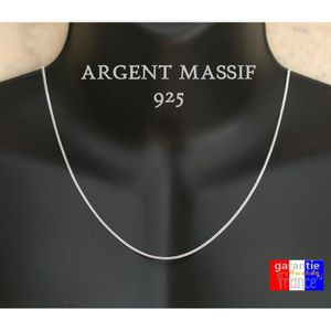 CHAINE DE COU SEULE Chaine en argent massif 925 taille moyenne 2mm pou