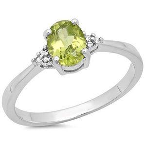 BAGUE - ANNEAU Bague Femme Diamants 0.98 ct  Argent Fin 925-1000