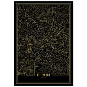 AFFICHE - POSTER Panorama® Poster Carte Or de Berlin 21 x 30 cm - I