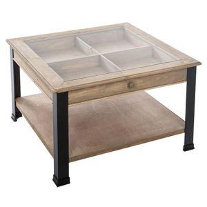 table basse verre trempe noir achat vente pas cher. Black Bedroom Furniture Sets. Home Design Ideas