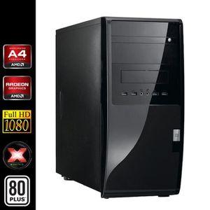 UNITÉ CENTRALE  PC de Bureau, AMD A4 2x3.0Ghz, 4Go RAM